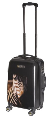 National Geographic Luggage Balboa 20 Inch Hardside Spinner, Black Zebra, One Size, Bags Central
