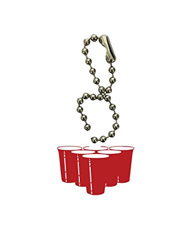 Beer Pong Cups Red Dog Bone Keychain by Moonlight Printing