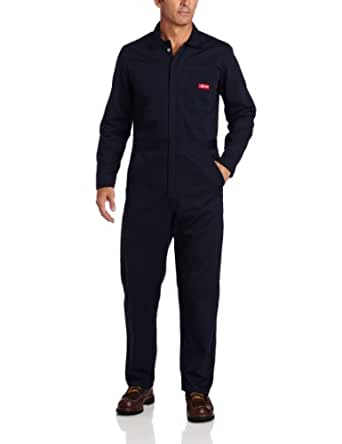 Dickies Men's Flame Resistant Long Sleeve Coverall, Navy, Small/Regular