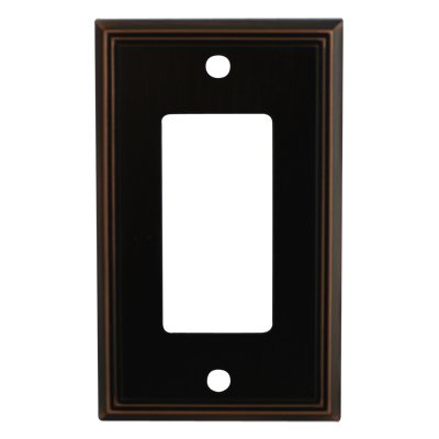Cosmas 65000-ORB Oil Rubbed Bronze Single GFI/Decora Rocker Wall Switch Plate Switchplate Cover