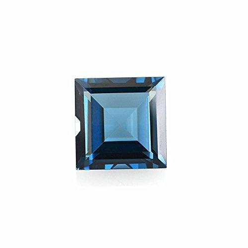 Ratnagarbha London Blue Topaz Cut Square Shape Faceted Loose Gemstones, 3.00 mm 100 Piece, Topaz, London Blue Color, Jewelry Making, Wholesale Price.