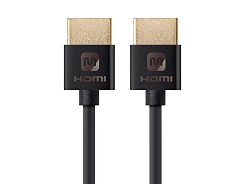 Monoprice 113586 Ultra Slim Series High Speed HDMI Cable, 6ft Black by Monoprice