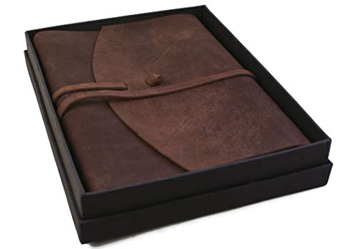 Life Arts Handmade Enya Leather Journal Rustic Tan, A4 Plain Pages