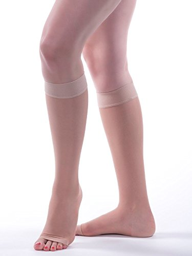 Allegro 20-30mmHg Essential 19 Sheer Support Knee High Open Toe Compression Sock