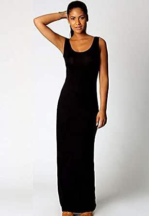 Cherry Black Cotton Casual Dress For Women