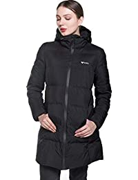 Valuker Womens Seamless Hooded Down Coat Jacket Puffer Parka Jacket