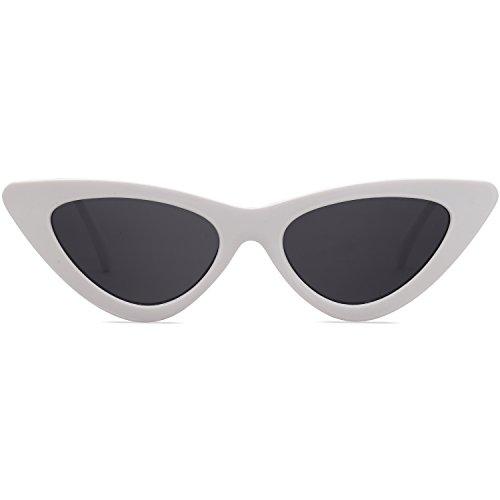 Gato Cat Mujer Moda Sol SOJOS Blanco C4 De Chic SJ2044 Gris De Gafas Marco Lente Eye Ojo Super twwvBYq