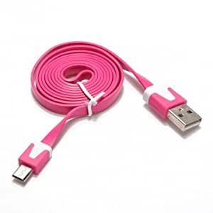 Universal Noodle V8 Interface Data Cable For Cellphones With Package --- Color:Red