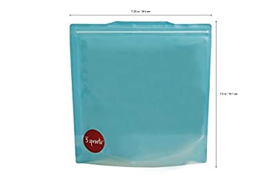 3 Sprouts Sandwich Bag Reusable and Washable Zip Top Lunch Storage Bag for Kids