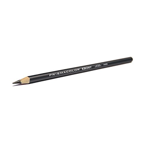 Prismacolor 14420 Ebony Graphite Drawing Pencils, Black,12-Count