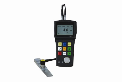 Tester Thickness Ultrasonic (UM-1D Digital Through Coating Ultrasonic Thickness Gauge w/ E-E Mode Echo-Echo)