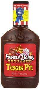 Famous Dave's BBQ Sauce Texas Pit, 19-Ounce (Pack of 3) (Famous Daves Texas Pit)