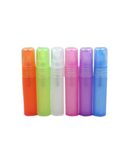 10 Pcs Assorted Color Plastic Travel Perfume Spray Botttle Empty Refillable Perfume Atomizer Pen Sprayer Pump Container (5ml)