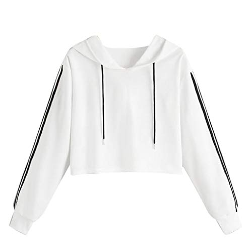 CCOOfhhc Womens Raglan Shirts Long Sleeve Crew Neck Hooded Pullover Fall Crop Tops Casual Sweatshirts Tops White ()