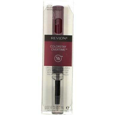 Revlon ColorStay Overtime Liquid Lip Color, Relentless Raisin [270] 1 ea (Pack of 2)