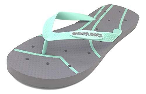Shower Shoez Women's Antimicrobial Non-Slip Pool Dorm Water Sandals Flip Flops (XLarge 11-12, -