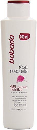 Babaria Rosa Mosqueta / Musk Rose Oil Nourishing Bath and Shower Cream 750ml by Babaria