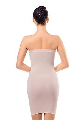 MD Women's Strapless Full Body Slip Shaper Seamless Smoother Tube Slip Under Dresses