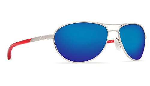 Costa Del Mar KC Sunglasses, Palladium with Crystal Red T...