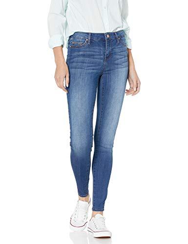 Celebrity Pink Jeans Women's Infinite Stretch Mid Rise Skinny Jean, Kings of Leon Md, 17