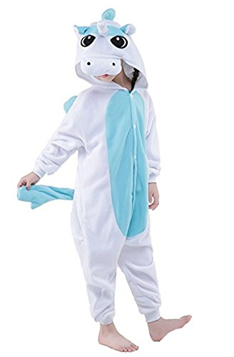 Halloween Cosplay Costume Unicorn Onesie Pajamas OnePiece Animal Outfit Homewear (Best Friend Halloween Costumes For Girls)
