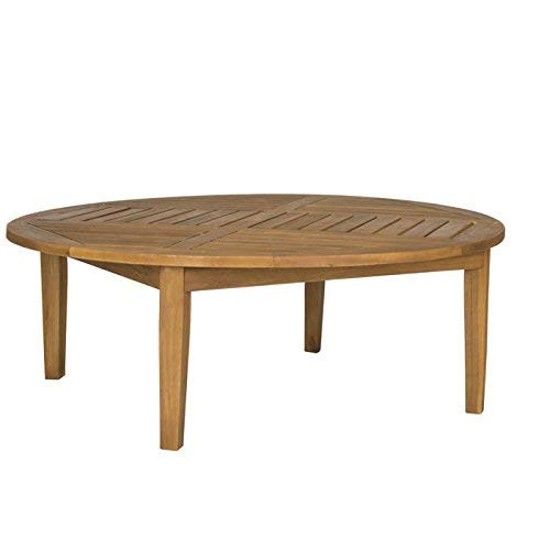 Round Polywood Coffee Table - Safavieh Outdoor Collection Danville Teak Brown Round Table