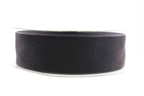- May Arts 1-1/2-Inch Wide Ribbon, Brown Velvet