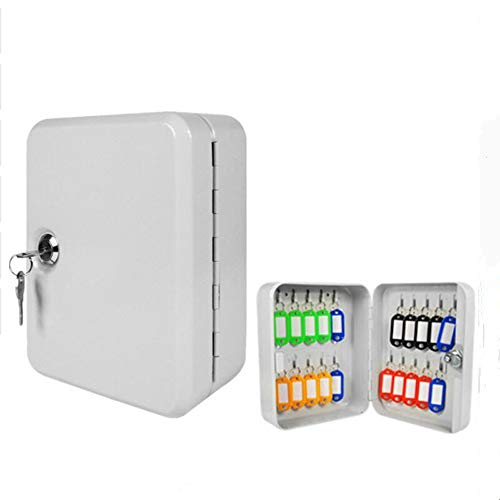 Key Cabinet Box 20 Tags Wall Mounted Lockable Security Metal Cupboard Key Steel Security Cabinet Box Combination Lock