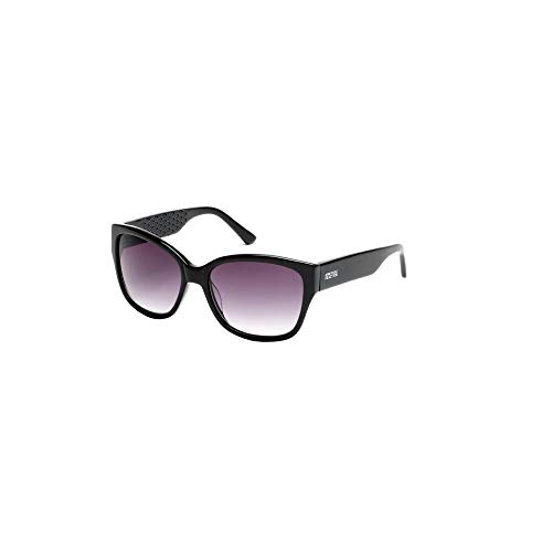 Kenneth Cole Reaction Black Square Sunglasses with Smoke Tint ()
