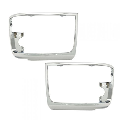 - Chrome Headlights Headlamps Trim Bezel Pair Set for Bronco F150 Pickup Truck
