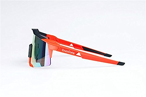 Lunettes de cyclisme 2LS Kit, lunettes de soleil de bicyclette anti-UV, courses de route sports de plein air (orange)