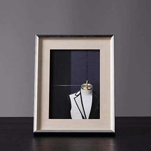 CXTU Family Photo Frame Background Decoration Decorative Handmade Metal Frames Creative Wedding Photo Frame Personalized Custom Anaglyph Suit (Size: 12.7x17.8cm) (Size : 12.7x17.8cm)