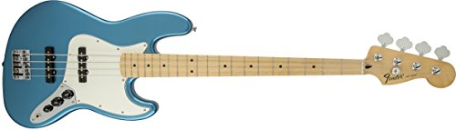 Fender Standard Jazz Electric Bass Guitar – Maple Fingerboard, Lake Placid Blue