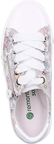 multi In scarpe basso sneaker Weiss ice 90 soletta bianco Removibile Da Remonte Ginnastica top R3101 Donna Scarpa low Pelle top Skateboard yUO4q