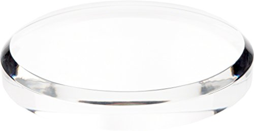 Clear Acrylic Base (Plymor Brand Clear Acrylic Beveled Round Display Base, 1