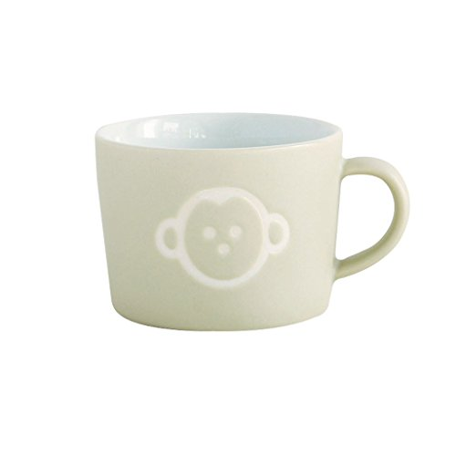 Time Concept Kids Petits Et Maman Ceramic Mug - Monkey - Reusable Home/Party Starter Drinking Cup ()