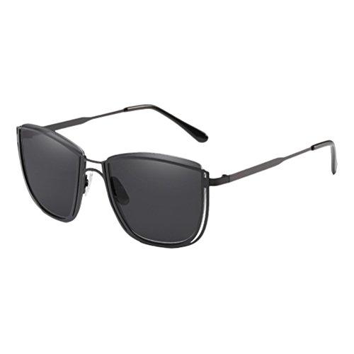 Black Sunglasses étui Hommes Qualité de Avec Soleil Design Lunettes Retro Lunettes de à Femmes Métal Matériel Zhhlaixing en et xqnUFXCgZw