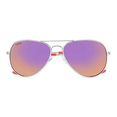 Lunette Soleil Femme Rose De Sunglasses Coral pqT5vv