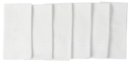 Van Heusen 6 Pack Cotton Handkerchiefs Solid White