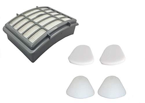 1 Hepa Filter + 2 Pack Pre-Filter Foam & Felt Replacements for Shark XFF350 XHF350 Navigator Lift-Away NV350, NV351, NV352, NV355, NV356, NV356E, NV357, NV360, NV370, UV440, UV540 (Oem Hepa Filter)