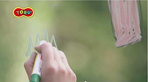 Toru Window Glass Color Crayon Marker Washable Paper Aqua Non-toxic 12 Colors by Toru (Image #7)
