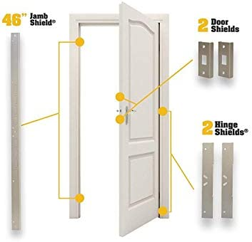 Puerta Armor Max – Juego completo de puerta refuerzo en níquel satinado de puerta seguridad por Armor conceptos: Amazon.es: Bricolaje y herramientas