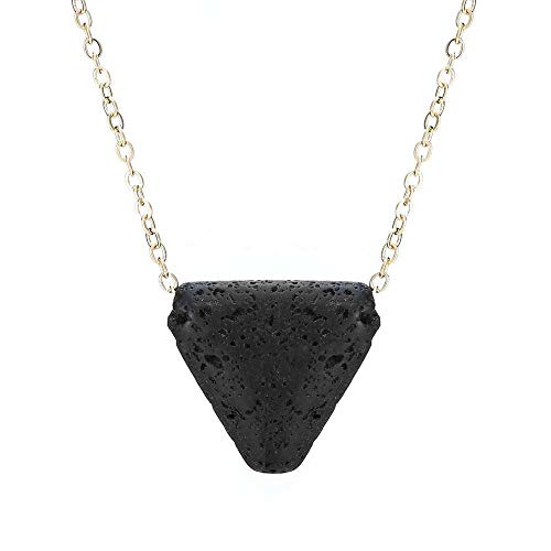 Essential Oil Diffuser Aromatherapy Necklace Triangle Lava Bead Stone Jewelry -