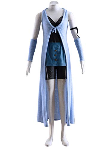 Mtxc Women's Final Fantasy VIII Cosplay Costume Rinoa Heartilly 1st Size Medium Blue -