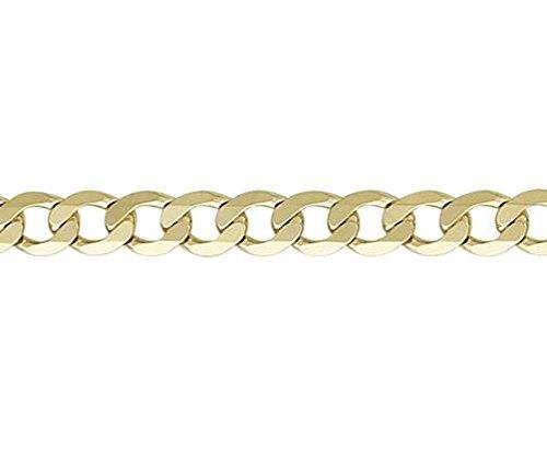 9ct or jaune métrique Curb Bracelet 19,1cm/19cm