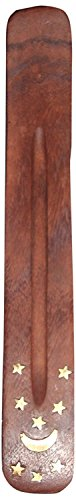 Incense Holder Indian Traditional Incense Holder with Inlaid Design Approx 10 Inches,By Raajsee (Traditional Incense)