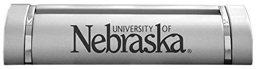 (University of Nebraska??Lincoln-Desk Business Card Holder -Silver)