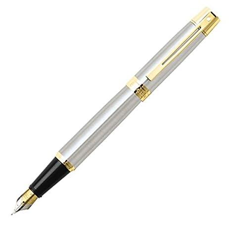 Gentil SHEAFFER Schaefer 300 Fountain Pen F SGC9327PN F Brushed Chrome GTT