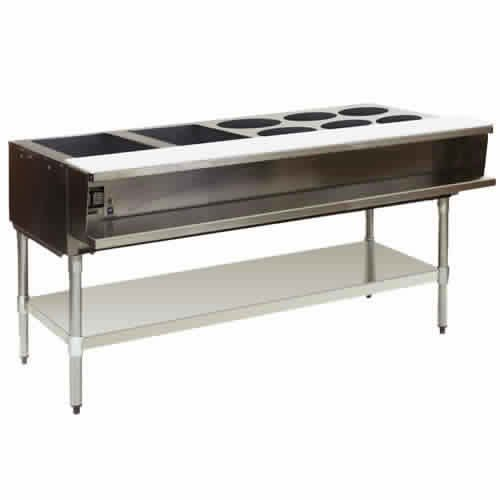 Gas Steam Tables: Eagle (AWT4-NG-1) 4 Well Gas Water Bath Steam Table
