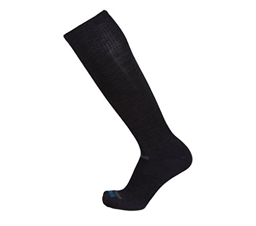 Point6 Compression, Ultra Light OTC sock - X Large, Black with a Helicase sock ring